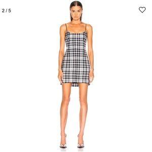 ALEXANDER WANG Tailored Mini Cami Dress Plaid